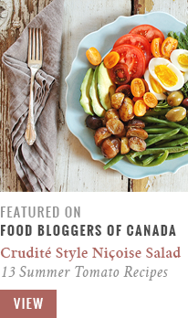 Featured on Food Bloggers of Canada // Crudite Style Nicoise Salad | 13 more tomato recipes to celebrate summer