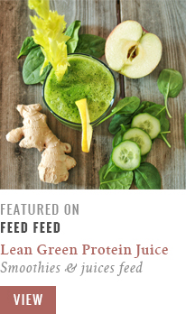 Featured in FeedFeed // Lean Green Protein Juice // JustineCelina.com