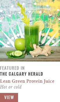 Feature // Lean Green Protein Juice | Hot or Cold | Calgary Herald Gastropost // JustineCelina.com