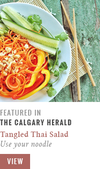 Feature // Tangled Thai Salad with Ginger Peanut Sauce | Use Your Noodle | Calgary Herald Gastropost // JustineCelina.com
