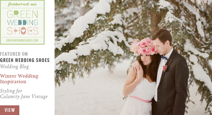 Featured on Green Wedding Shoes | Winter Wedding Inspiration with Pink & Gold // JustineCelina.com