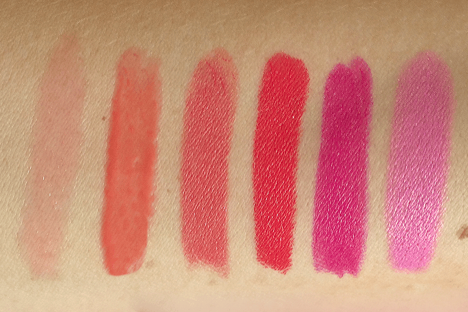 6 Fresh Spring Lip Colours Photos, Review, Swatches // JustineCelina.com