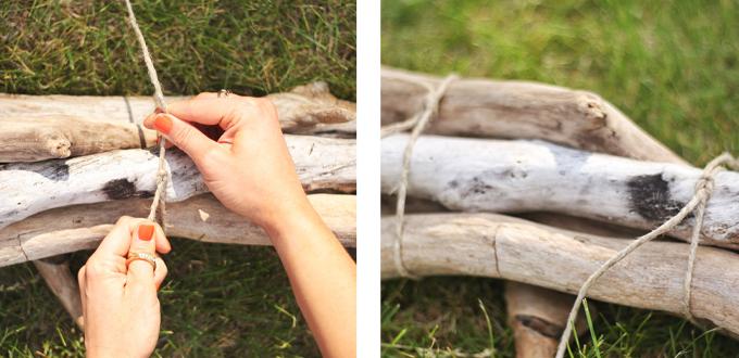 DIY   Driftwood Sculpture Centerpiece // JustineCelina.com