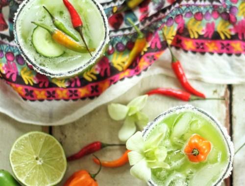 Green Jalapeno Margaritas // JustineCelina.com