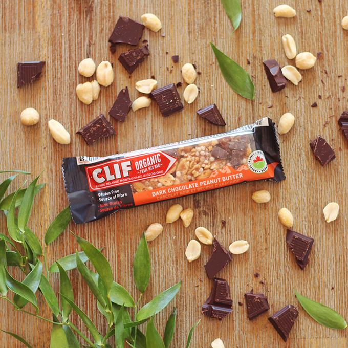 Clif Dark Chocolate Peanut Butter Organic Trail Mix Bar Review // JustineCelina.com