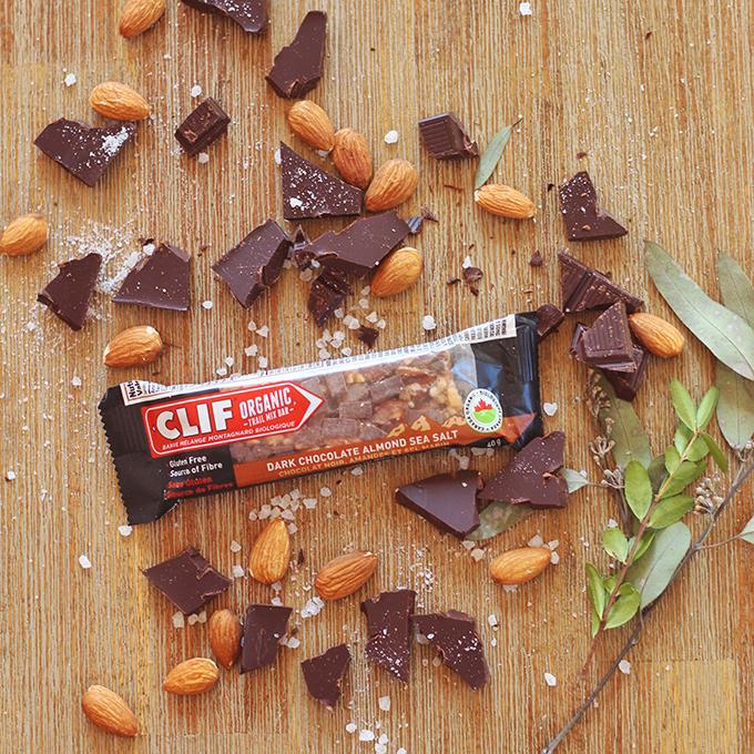 Clif Dark Chocolate Almond Sea Salt Organic Trail Mix Bar Review // JustineCelina.com