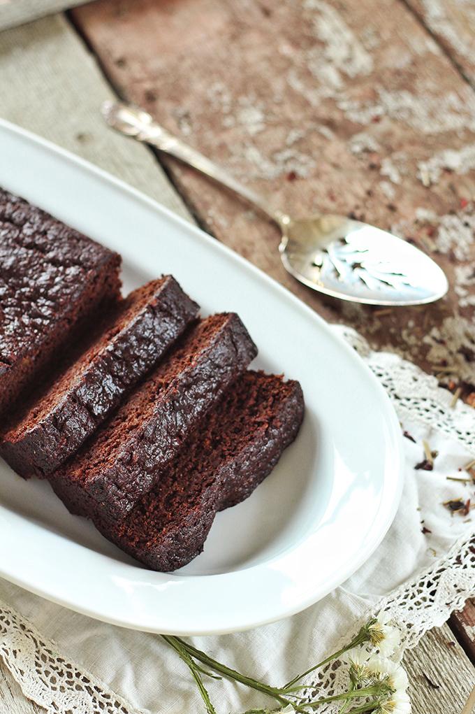Decadent Dark Chocolate Banana Bread // JustineCelina.com