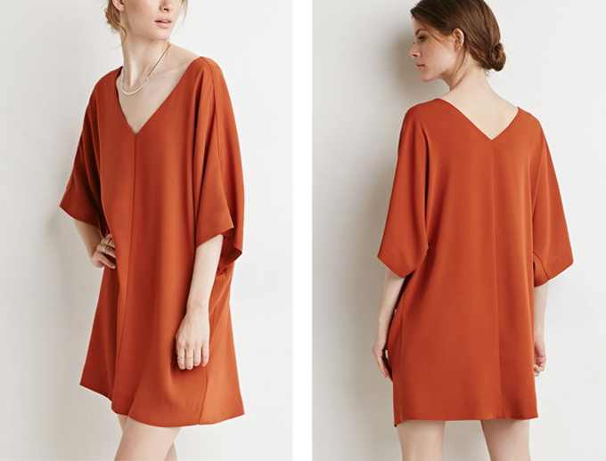 Colour Crush | Rust | Dolman Shift Dress Forever21 // JustineCelina.com