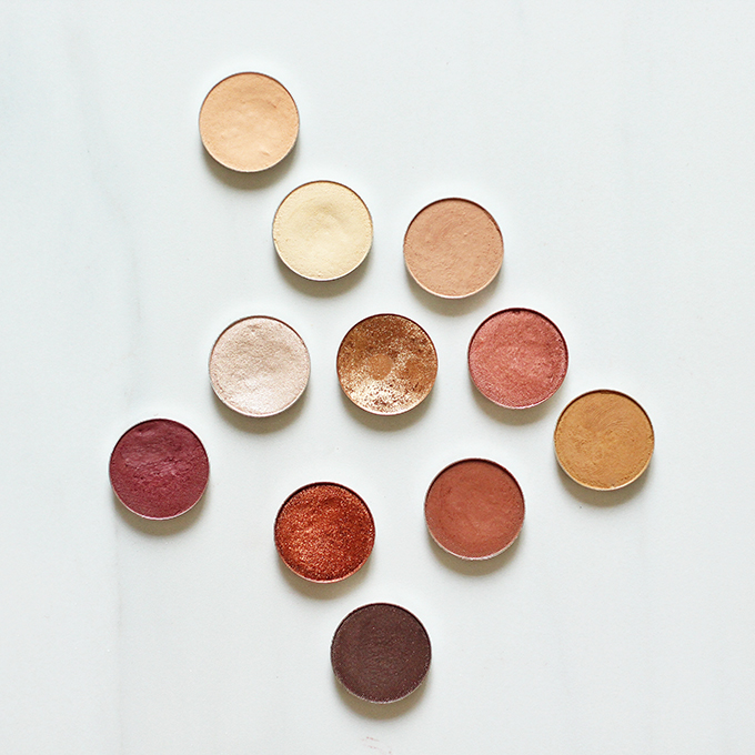 Makeup Geek Eyeshadows for Fall Photos, Review, Swatches // JustineCelina.com