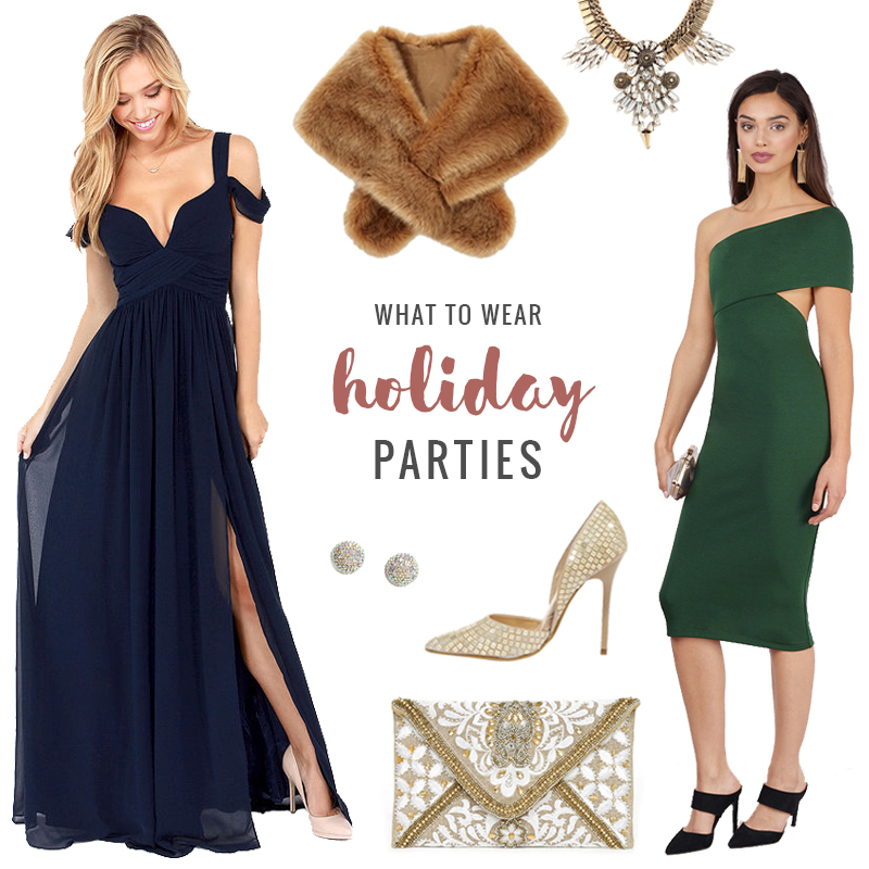 Holiday Party Cocktail Dresses Part - 43: What To Wear | Holiday Parties // JustineCelina.com
