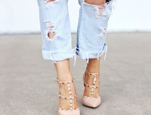 DIY | Distressed Boyfriend Jeans