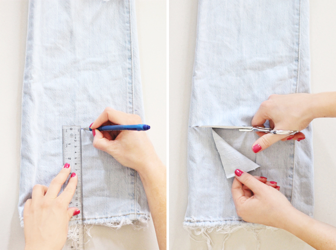 DIY | Distressed Boyfriend Jeans Step by Step Instructions