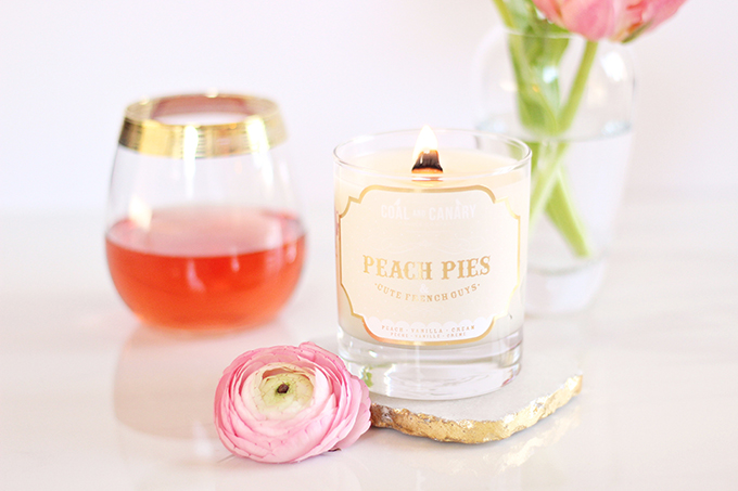 Simple Pleasures | Coal & Canary Peach Pies and Cute French Guys Candle // JustineCelina.com