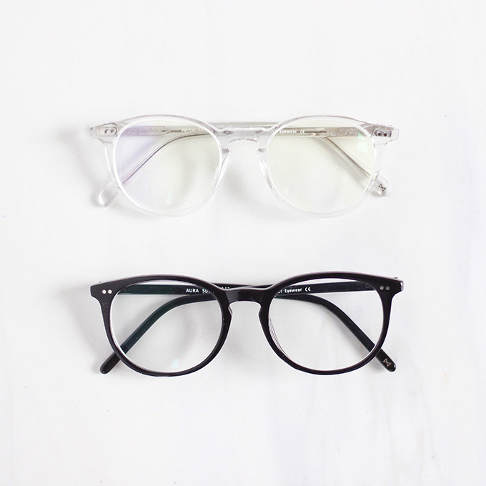 EyeBuyDirect Aura Black Prescription Eyeglasses Review   Prism Translucent Eyeglasses Review // JustineCelina.com