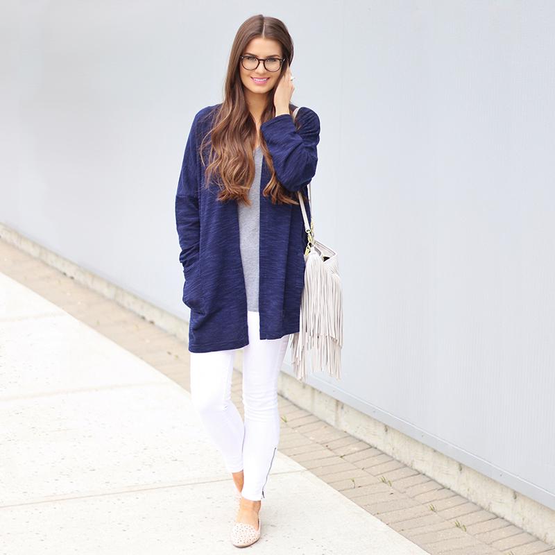 Grey Days | EyeBuyDirect Aura Black Prescription Eyeglasses Review // JustineCelina.com