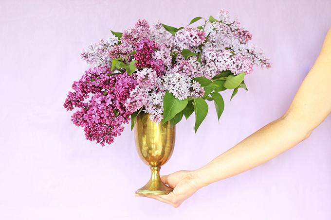 DIY   Foraged Lilac Arrangement // JustineCelina.com