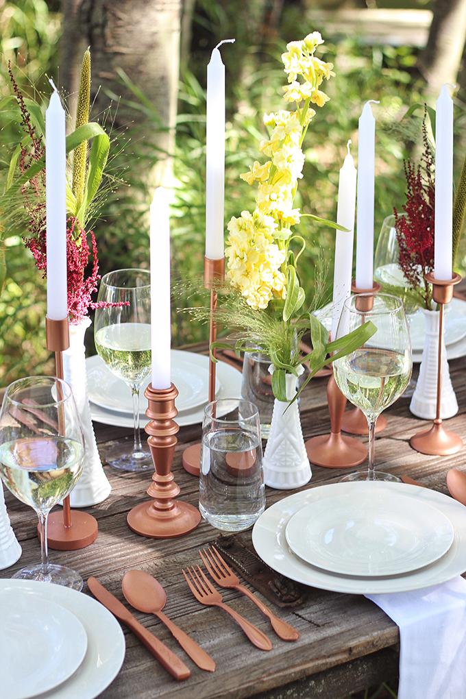 Al Fresco Summer Dining Inspiration // JustineCelina.com