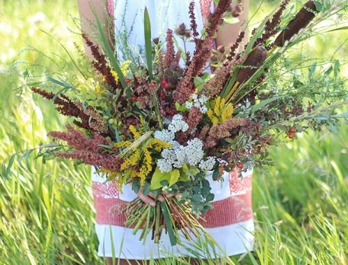 Foraged Prairie Wildflower Bouquet | Calgary, Alberta, Canada // JustineCelina.com