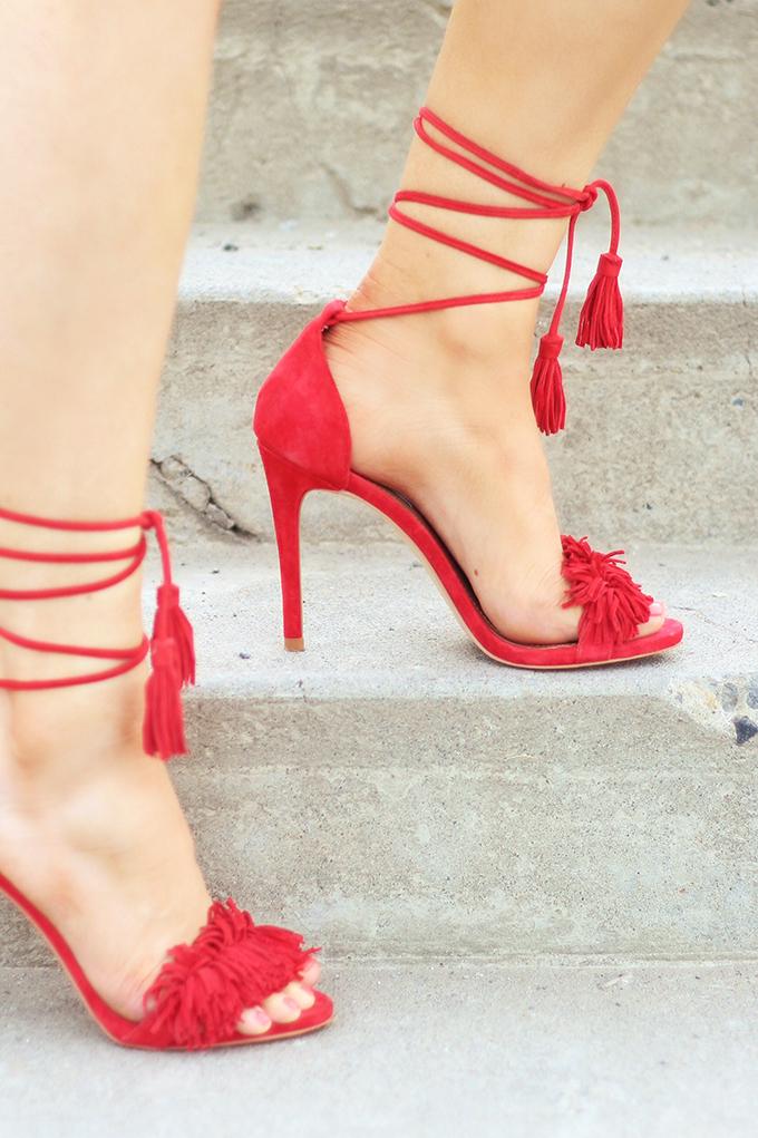 Shoes of Summer + End of Season Sales | Fringed, Tasseled Sandals // JustineCelina.com