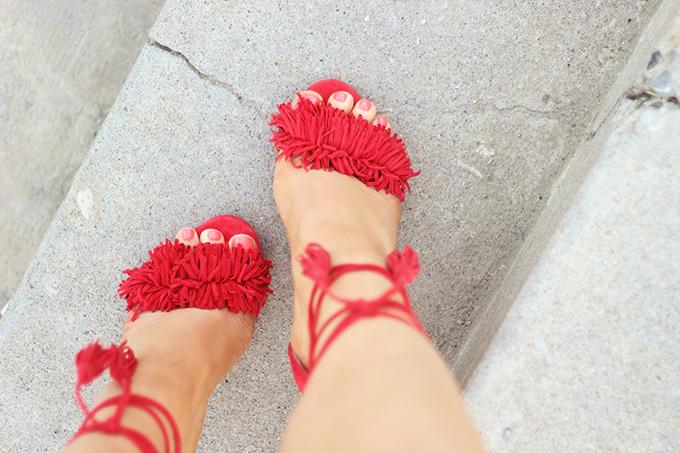Shoes of Summer + End of Season Sales   Fringed, Tasseled Sandals // JustineCelina.com