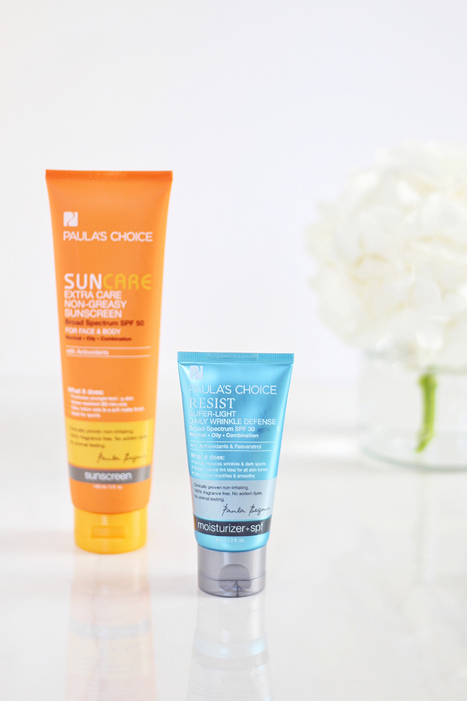 Resist Super-Light Wrinkle Defense SPF 30 Review | Extra Care Non-Greasy Sunscreen SPF 50 Review | 5 Powerhouse Skincare Ingredients // JustineCelina.com