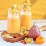 Autumn Energizer Juice with Cape Gooseberries // JustineCelina.com