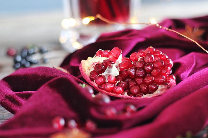 Vanilla Pomegranate Mulled Wine Ingredients // JustineCelina.com