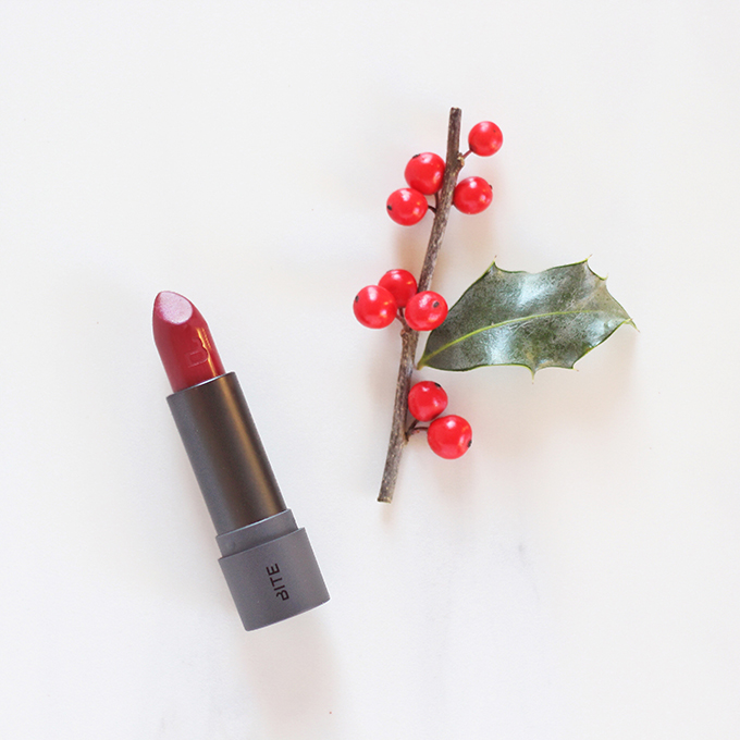 Bite Beauty Amuse Bouche Lipstick in Mistletoe   Holiday Kiss Collection Photos, Review, Swatches   5 Festive Lipsticks to Try This Holiday Season // JustineCelina.com