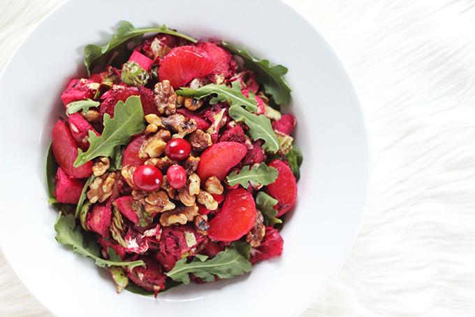 Cranberry Dijon Vinaigrette // JustineCelina.com