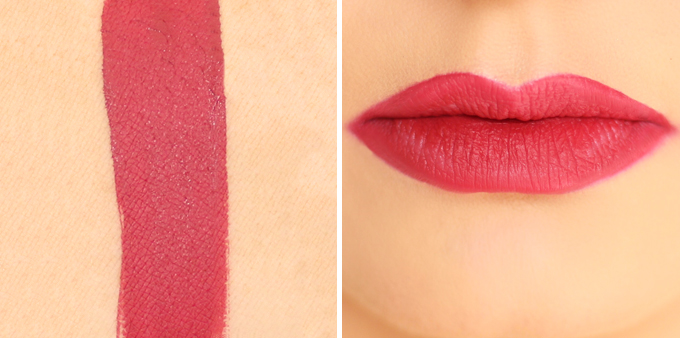 SEPHORA COLLECTION Cream Lip Stain in 01 Always Red Photos, Review, Swatches | 5 Festive Lipsticks to Try This Holiday Season // JustineCelina.com