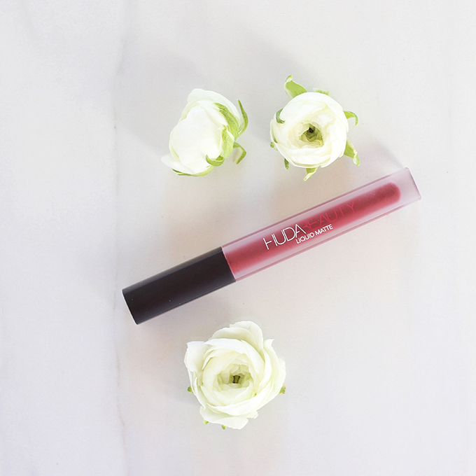 Huda Beauty Liquid Matte Lipstick in Famous Photos, Review, Swatches | December 2016 Beauty Favourites // JustineCelina.com
