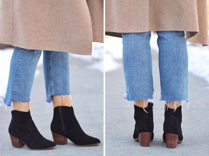 WINTER 2017 SHOE GUIDE: BASICS | Black Low Heel Booties // JustineCelina.com
