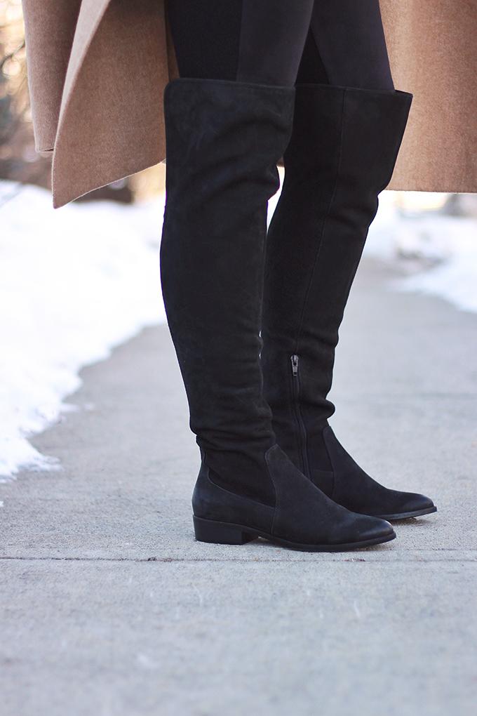 WINTER 2017 SHOE GUIDE: BASICS | Black, Flat, Over the Knee Boots // JustineCelina.com