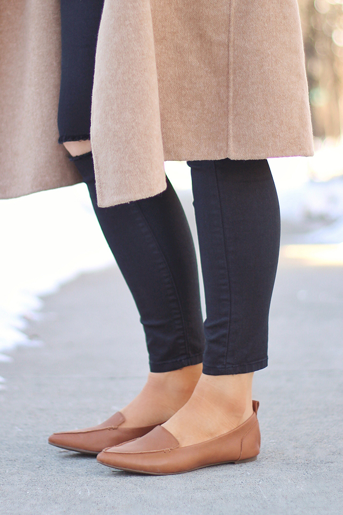 WINTER 2017 SHOE GUIDE: BASICS | Neutral Pointed Toe Flats // JustineCelina.com