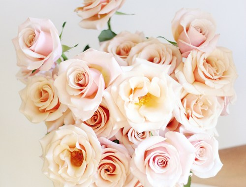 All About Roses | Mother of Pearl Hand Bouquet // JustineCelina.com x Rebecca Dawn Design