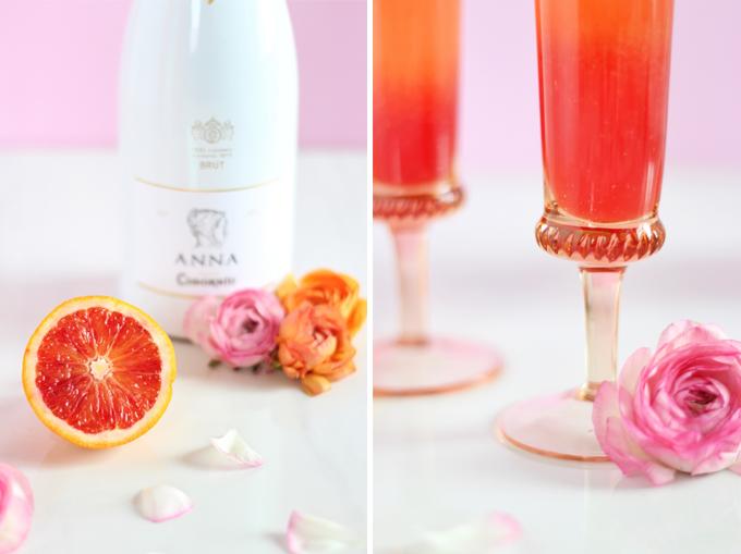 Blood Orange Creamsicle Mimosas // JustineCelina.com