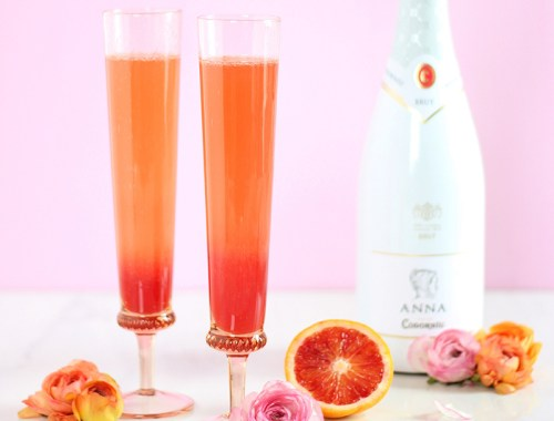 Blood Orange Creamsicle Mimosas // JustineCelina.com