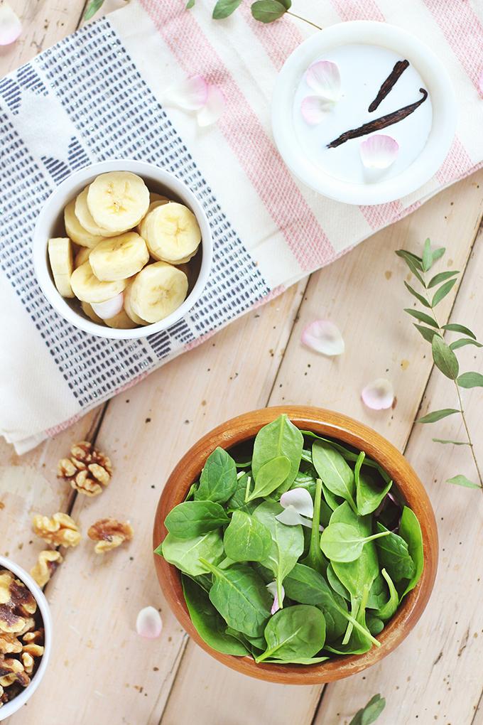 Pantone Inspired Banana Walnut Green Smoothie Bowl Ingredients // JustineCelina.com