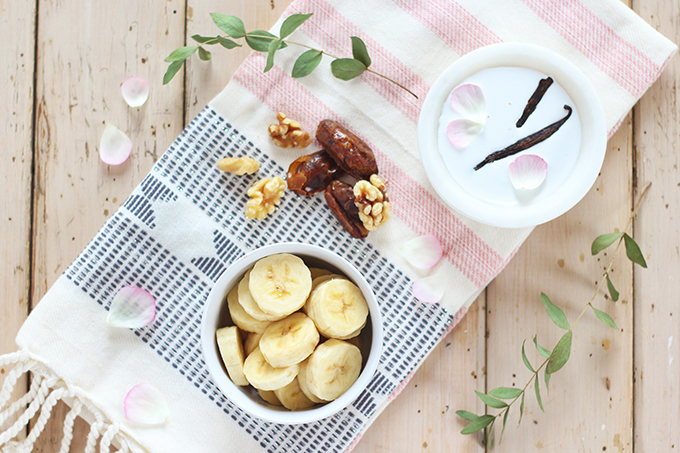 Pantone Inspired Banana Walnut Green Smoothie Bowl Ingredients // JustineCelina.com