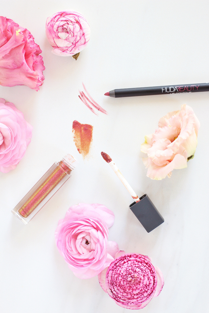5 Fresh Neutral Lip Combos to Try this Spring   Swatches, Huda Beauty Lip Contour Matte Pencil in Trophy Wife Photos Review Swatches // JustineCelina.com