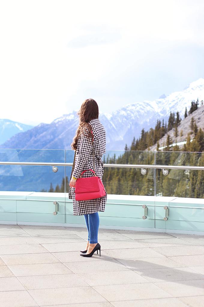Spring 2017 Trend Guide   Gingham Style   Sulphur Mountain, Banff Alberta Canada Gondola   Sky Bistro // JustineCelina.com