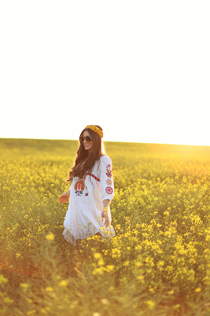 Flowerchild | Canola fields in rural Alberta, Canada // JustineCelina.com