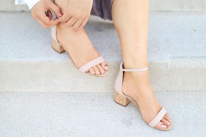 SUMMER 2017 MEGA SHOE GUIDE   30 PAIRS!   June Natural Cork Ankle Strap Heels // JustineCelina.com