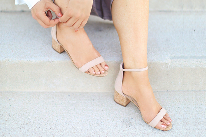 SUMMER 2017 MEGA SHOE GUIDE | 30 PAIRS! | June Natural Cork Ankle Strap Heels // JustineCelina.com