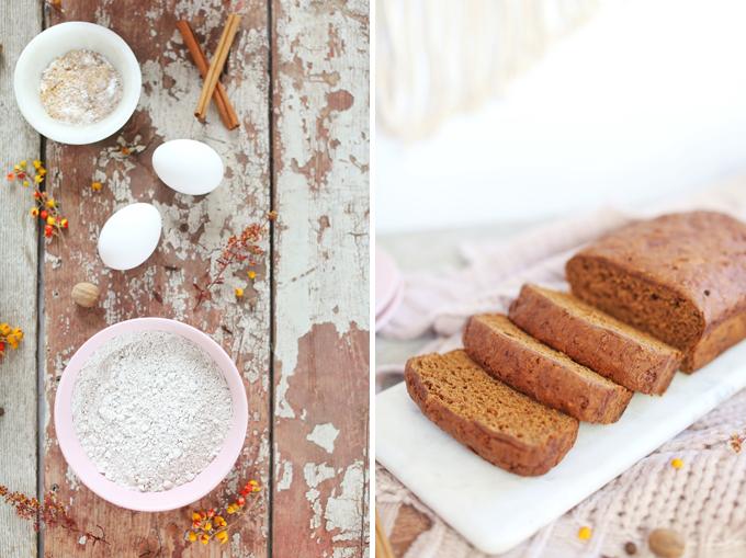 Gluten Free Spiced Sweet Potato Bread | #GlutenFree #DairyFree #RefinedSugarFree #OilFree // JustineCelina.com