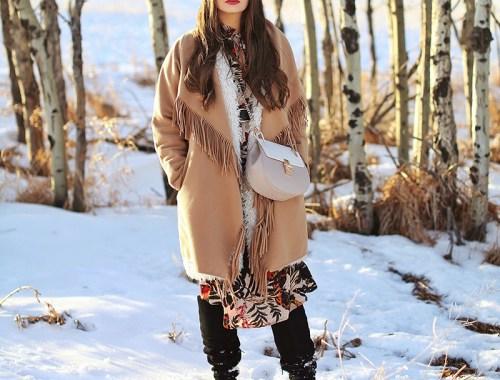 How to Style   Midi Dresses for Winter 2018   Best Chloe Drew Bag Dupes   Calgary Fashion Blogger, Wheatland County, Alberta Badlands // JustineCelina.com