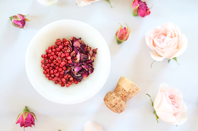 Rose Infused Cherry Gin Fizz | Featuring Eau Claire Distillery Artisanal Cherry Gin + The Silk Road Spice Merchant Rose Petal and Pink Peppercorn | Calgary, Alberta Lifestyle + Food Blogger // JustineCelina.com