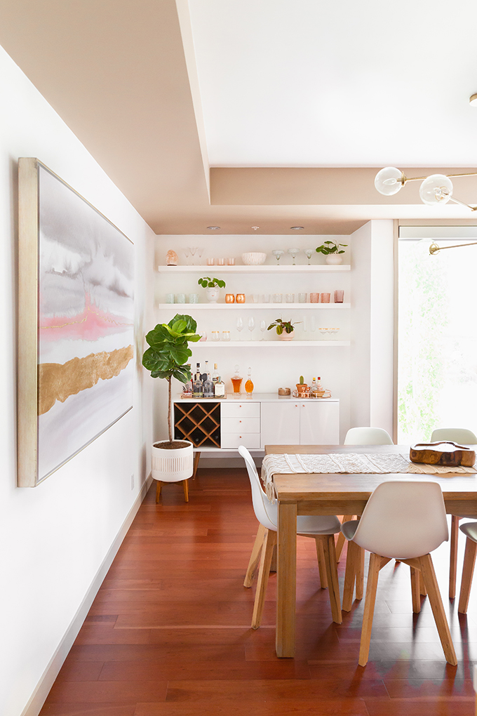 Kitchen / Dining Room / Bar Reveal in Partnership with HomeSense Canada | A Bohemian, Mid Century Modern Apartment in Calgary, Alberta, Canada // JustineCelina.com