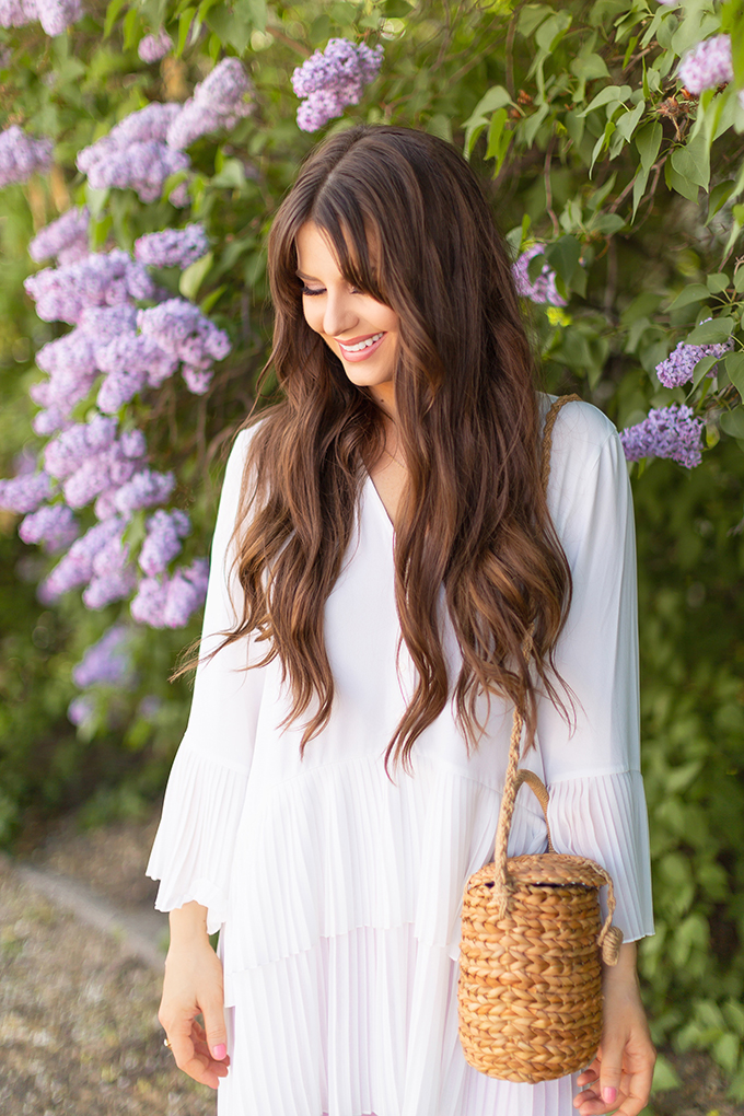 Spring 2018 Trend Guide | Lavender Love | Long, Natural Brunette Hair with Beachy Waves | Calgary, Alberta Fashion Blogger // JustineCelina.com
