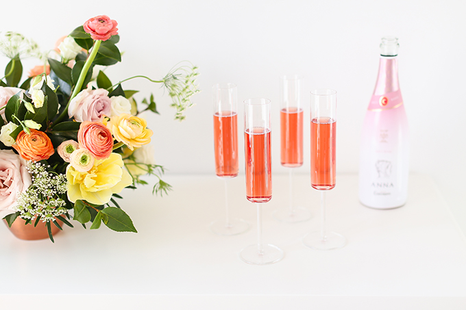 My 3rd Blogiversary + 10 Things I Learned in my Third Year of Blogging | Sparkling Rosé Wine in Modern Champagne Flutes | A Pantone Spring 2018 Inspired Birthday Celebration // JustineCelina.com